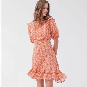 UO Ruffle Print Dress